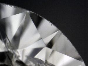 A diamond showing a bad case of bearding.